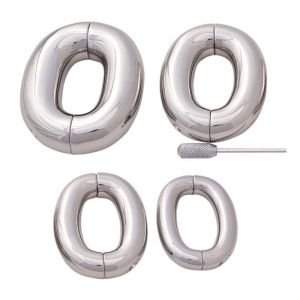 Heavy Hinged Rounded Oval Ball Stretcher Weight