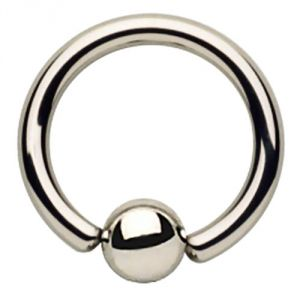 Surgical Steel Fixed Bead Ring