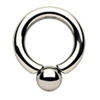 Surgical Steel Screwball Ring
